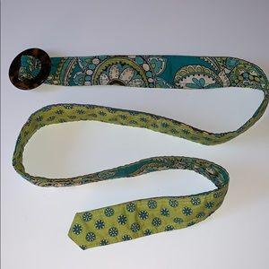 Vera Bradley Women's Belt Peacock Pattern